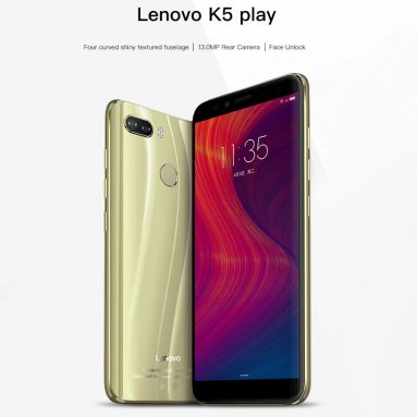 €98 with coupon for Lenovo K5 Play 4G Phablet Global Version 3GB RAM 32GB ROM 13.0MP + 2.0MP Rear Camera Fingerprint Sensor- BLUE