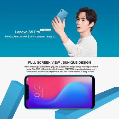 €123 with coupon for Lenovo S5 Pro Global Version 6.2 inch 6GB RAM 128GB ROM Snapdragon 636 Octa core 4G Smartphone – Blue from BANGGOOD