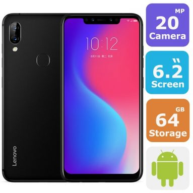 €116 with coupon for Lenovo S5 Pro Global Version 6.2 inch 6GB RAM 64GB ROM Snapdragon 636 Octa core 4G Smartphone – Blue from BANGGOOD