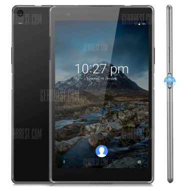 $219 with coupon for Lenovo TAB4 8 Plus Tablet PC Fingerprint Recognition  –  BLACK from GearBest