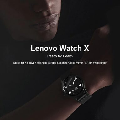 $ 25 com cupom para Lenovo Watch X Bluetooth Waterproof Smartwatch de BANGGOOD