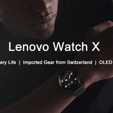 €28 with coupon for Lenovo Watch X Bluetooth Waterproof Smartwatch from GEARVITA