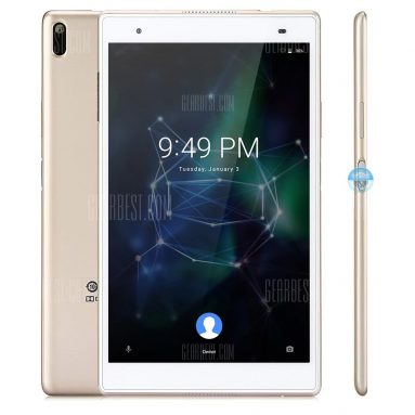 $237 with coupon for Lenovo Xiaoxin TB – 8804F Tablet PC  –  GOLDEN from GearBest
