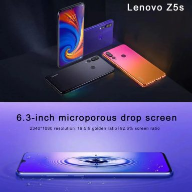 $147 with coupon for Lenovo Z5s 4G Phablet 4GB RAM 64GB ROM  Global Version – orange from GEARBEST