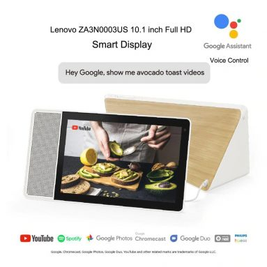€ 155 con coupon per Lenovo ZA3N0003US 10.1 Smart Display Full HD da pollici pollici - Spina multi-A EU di GEARBEST