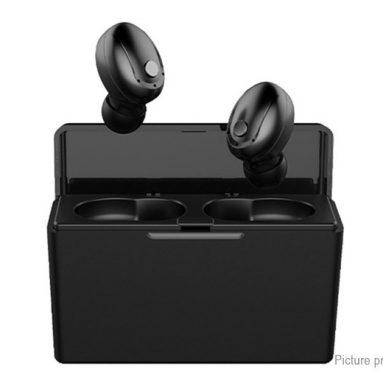 € 15 với phiếu giảm giá dành cho tai nghe bluetooth của Losence T5 TWS, Tai nghe 5.0mAh Ngân hàng điện không dây Mini Tai nghe thể thao chống nước hai tai nhỏ có hộp sạc - Trắng từ BANGGOOD