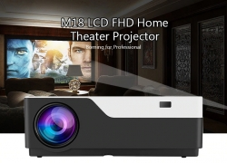 $179 with coupon for M18 LCD FHD Home Theater Projector – BLACK EU PLUG from GearBest