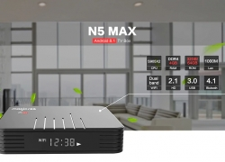 $ 62 s kupónom pre MAGICSEE N5 Max TV Box - čierna 4GB RAM + 64GB ROM EU Plug from GearBest