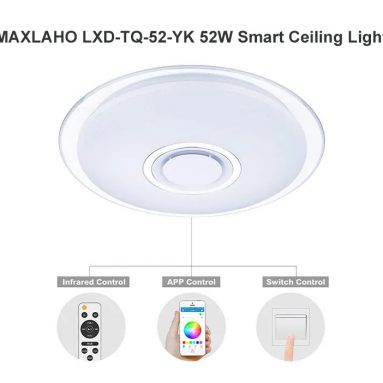 €49 with coupon for MAXLAHO LXD – TQ – 52 – YK 52W Smart Ceiling Light from GearBest