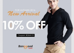 10% OFF for New Arrival for Autumn on Men Clothing Collection! from BANGGOOD TECHNOLOGY CO., LIMITED