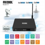 €118 with coupon for MECOOL K7 DVB – S2 – T2 / TC 4GB LPDDR4 64GB EMMC 4K TV Box with Dual WiFi Amlogic S905X2 HDR10 H.265 – Black EU Plug from GEARBEST