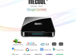 € 61 sa kupon para sa MECOOL KM3 Android 9.0 Voice Control TV Box Google Certification - Black EU Plug mula GEARBEST