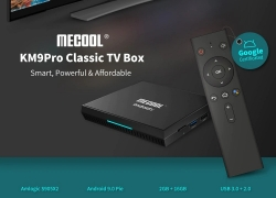 $38 with coupon for MECOOL KM9 Pro Classic Google Certificated Voice Control Android TV Box – Black EU Plug from GEARBEST