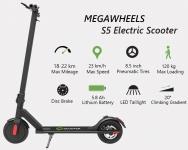 € 272 met coupon voor MEGAWHEELS S5 8.5 Inch 8Ah 36V 250W Borstelloze elektrische opvouwbare elektrische scooter 23km / h Max. Snelheid 22km Range EU-magazijn van BANGGOOD