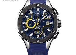$18 with coupon for MEGIR MN2053 Men Quartz Watch  –  BLUE from GearBest
