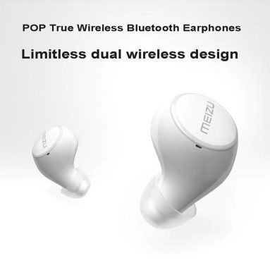$69 with coupon for MEIZU POP True Wireless Bluetooth Earphones In-ear Earbuds – WHITE from GearBest