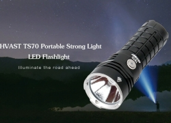 $64 with coupon for MHVAST TS70 Portable Strong Light LED Flashlight for Outdoor – BLACK 5700K-6500K from GearBest