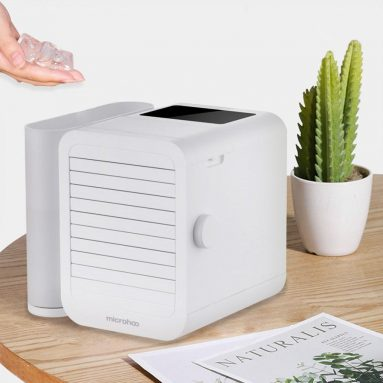 €41 with coupon for MICROHOO 6W 1000ml Water Capacity White Mini Air Conditioner From Xiaomi Youpin from BANGGOOD