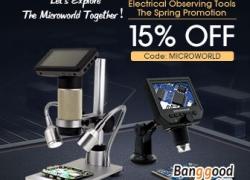 15% OFF cho các công cụ quan sát điện được khuyến mãi từ CÔNG TY TNHH CÔNG NGHỆ BANGGOOD