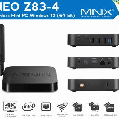 $ 8 av for MINIX NEO Z83-4 fra Geekbuying