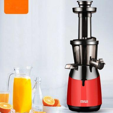 MIUI JE-B50 Meyve Sıkacağı 11V 220W için kuponlu 150 € Yenilikçi Filtre Cüruf Ezme Ayırma Mutfak için Çok Parçalı Spiral - BANGGOOD'dan Kırmızı