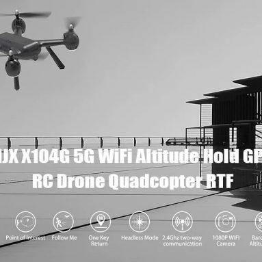 € 68 với phiếu giảm giá cho MJXR / C Technic X104G WiFi 5G Độ cao Giữ GPS RC Drone Drone RTF - Đen từ GEARBEST