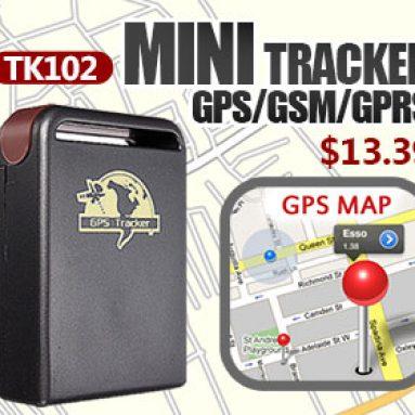 40% OFF עבור אופנוע מוטורי TK102 מיני GPS / GSM / GPRS אישי חיית המחמד מרגל בזמן אמת Tracker מ BANGGOOD TECHNOLOGY CO., LIMITED
