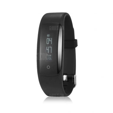 $4 with coupon for MPOW D6 Smart Bracelet for iOS Android Phones  –  BLACK from GearBest