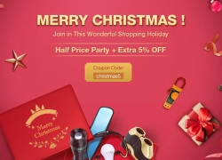 MERRY CHRISTMAS-Half Price Party + Extra 5% OFF from Newfrog.com
