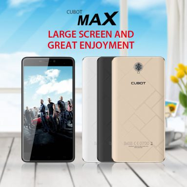 $50 OFF Cubot Max 4G Smartphone Presale w/ Free Shipping from TOMTOP Technology Co., Ltd