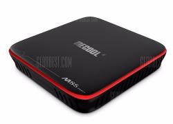 $ 28 med kupon til Mecool M8S PRO W 2.4G med Andriod TV OS Support Voice Control TV Box - EU PLUG SVART EU-lager fra Gearbest