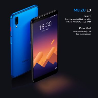 $366 with coupon for Meizu E3 Smartphone  6GB 128GB  – Black from GeekBuying