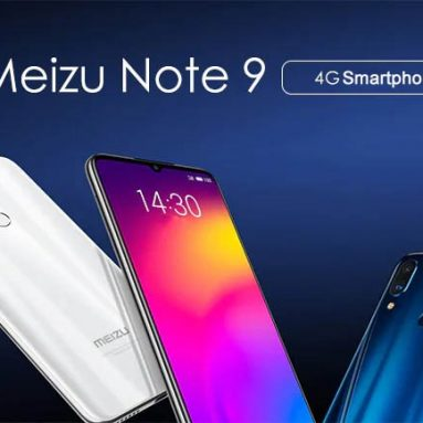 $ 174 con coupon per Meizu Note 9 4G Smartphone 4GB RAM 64GB ROM Global Version from GEARVITA
