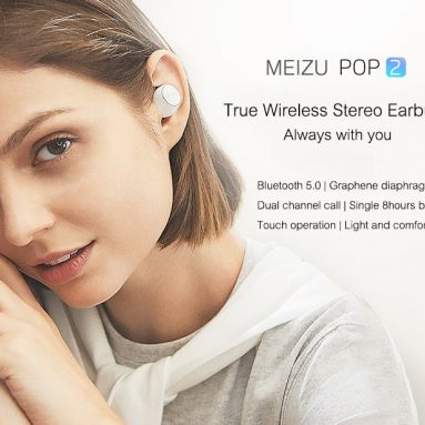 $54 with coupon for Meizu POP2 TWS Wireless Bluetooth 5.0 Earphones Global Version IPX5 Waterproof from GEARVITA