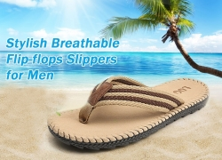 $6 with coupon for Men Casual Beach Breathable Slippers from GearBest