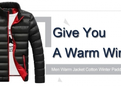 $22 with coupon for Men Warm Jacket Cotton Winter Padded Coat Classic Style from GearBest