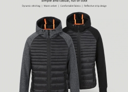 $43 with coupon for Men's Stitching Sports Cotton Suit from Xiaomi youpin from Gearbest