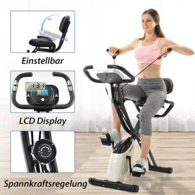 € 186 met coupon voor Merax X-Bike magnetische opvouwbare fitnessfiets 2.5 kg Vliegwiel LCD-scherm voor cardiotraining Fietsen Indoor Oefeningstraining EU MAGAZIJN van BANGGOOD