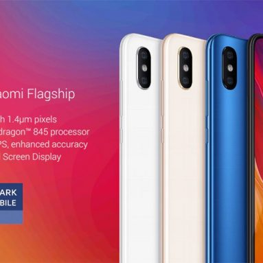 €299 with coupon for Xiaomi Mi 8 4G Phablet 6GB RAM 64GB ROM Global Version – BLACK from GearBest