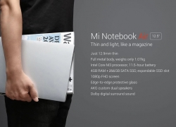 $635 with coupon for Xiaomi Mi Notebook Air 12.5 inch Laptop Intel Core M3-7Y30 Dual Core 2.6GHz Windows 10 4GB LPDDR3 RAM 128GB SATA SSD ROM from GEEKBUYING