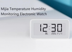 $19 with coupon for Mijia Temperature Humidity Monitoring Electronic Watch from GEARBEST