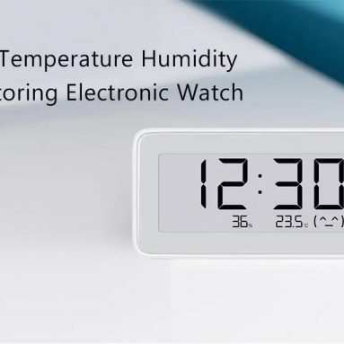 $16 with coupon for Mijia Temperature Humidity Monitoring Electronic Watch from GEARBEST