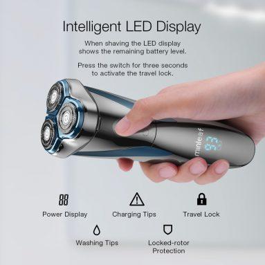 € 15 với phiếu giảm giá cho [2019 MỚI] Màn hình LCD Minleaf ML-ES1 Màn hình LCD IPX7 Không thấm nước loại khô có thể sạc lại khô cạo râu cạo râu từ BANGGOOD