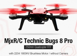 $68 with coupon for MjxR / C Technic Bugs 8 Pro 250mm Quadcopter RTF – RED from GearBest