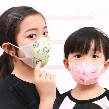 $ 18 dengan kupon untuk Monclique Kartun Hewan Anak-anak Wajah Mulut Masker Katun Tahan Debu untuk Bayi Hidung PM2.5 10 pcs dari GEARBEST