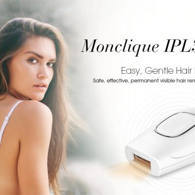 $59 with coupon for Monclique IPL3000 IPL Hair Removal Device Light-based Remover for Long-lasting Smooth Skin from GearBest