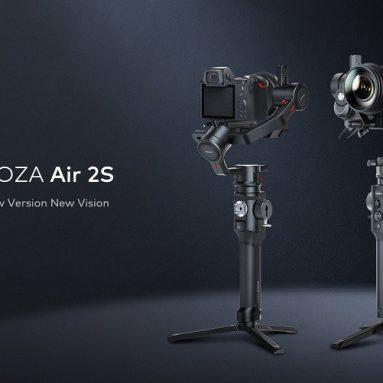 €614 मोजा मैजिक एयर 2S 3-एक्सिस हैंडहेल्ड जिम्बल स्टेबलाइजर लाइटवेट पावरफुल गिंबल्स के लिए कूपन के साथ 20 घंटे बैंगगूड से डीएसएलआर मिररलेस कैमरा के लिए
