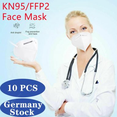€ 26 na may kupon para sa 10PCS KN95 N95 Mukha Mask Disposable Breathable Protective Non-Medical Masks EU Germany Warehouse mula sa GEARBEST