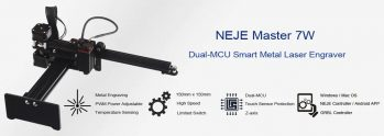 €154 with coupon for NEJE MASTER 7W Personal Laser Engraving Machine – Black EU Plug / 7W from GEARBEST