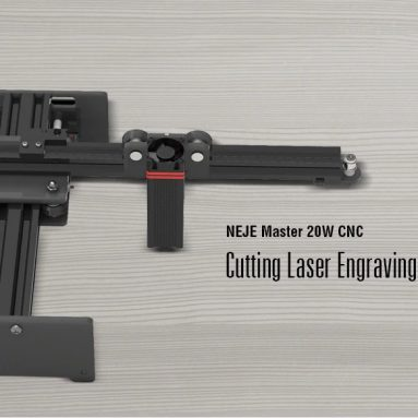 $ 249 με κουπόνι για μηχανή κοπής λέιζερ NEJE Master 20W CNC - μαύρη EU Plug / 20W από GEARBEST